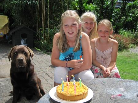Noa 10 jaar, samen met Esmée (m) en Anna (r)