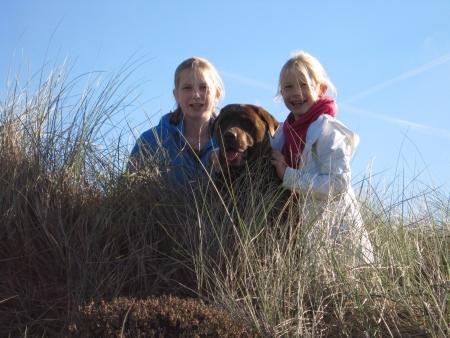 Genieten van het najaarszonnetje 2010 in de duinen van het Harger Strand