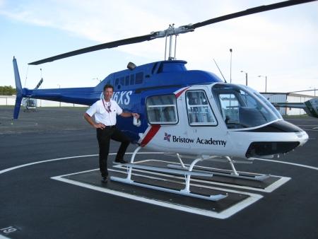 Mijn eerste turbine helicopter.