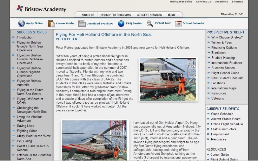 website Bristow Academy www.heli.com